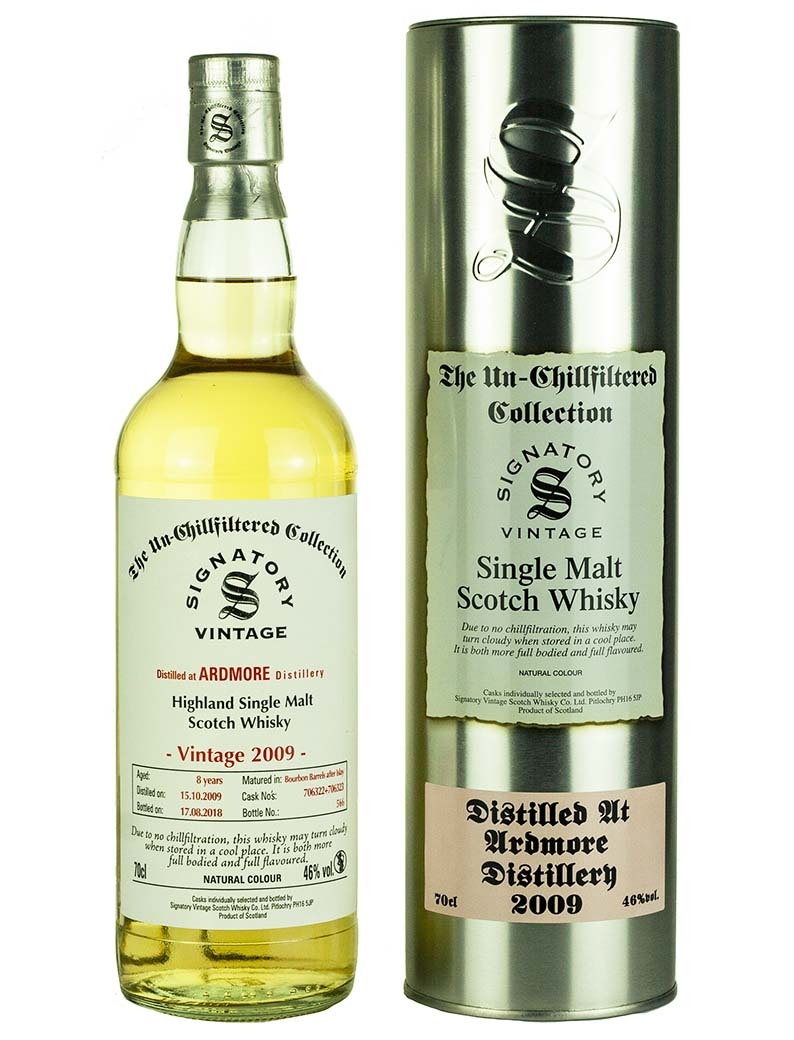 Ardmore 8 Year Old 2009 Signatory Un Chillfiltered
