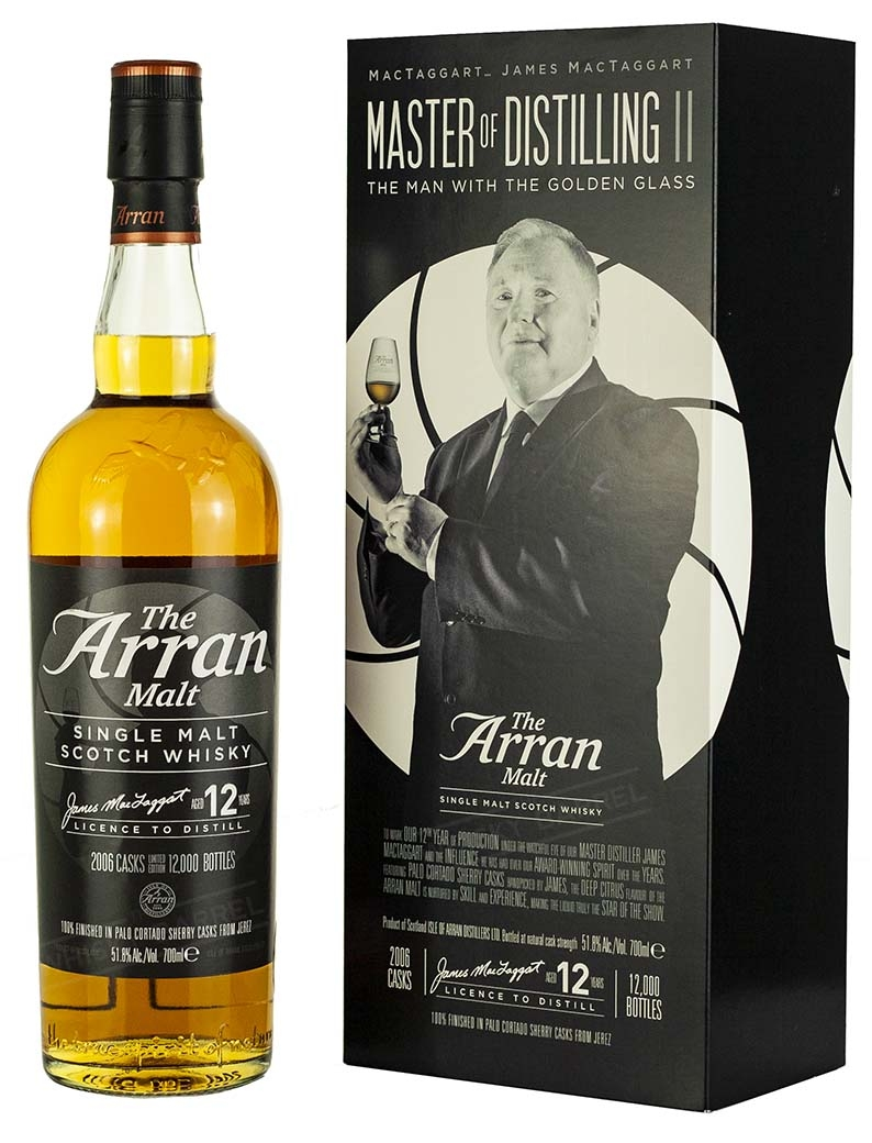 Arran 12 Year Old The Man With The Golden Glass