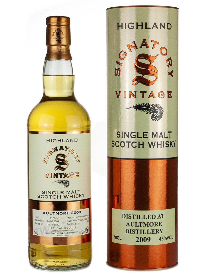 Aultmore 11 Year Old 2009 Signatory Highland