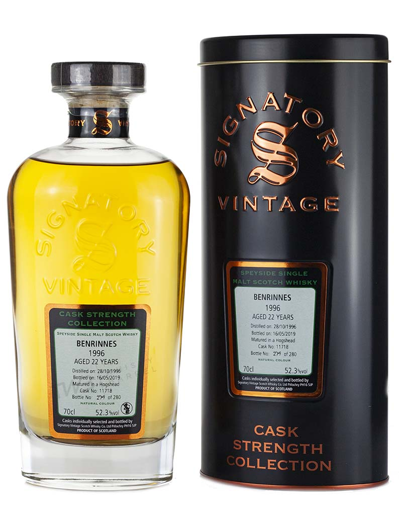 Alcoholic Drinks Benrinnes 22 Year Old 1996 Signatory Cask Strength