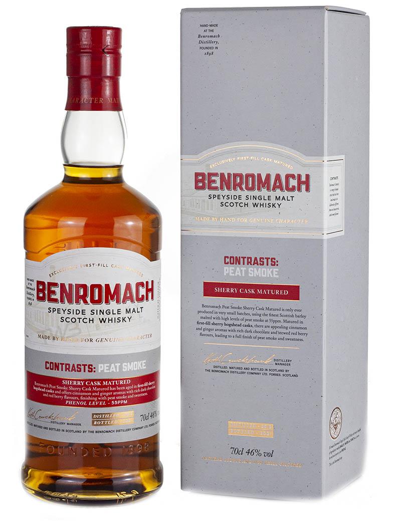 Benromach 2012 Contrasts: Peat Smoke Sherry Cask