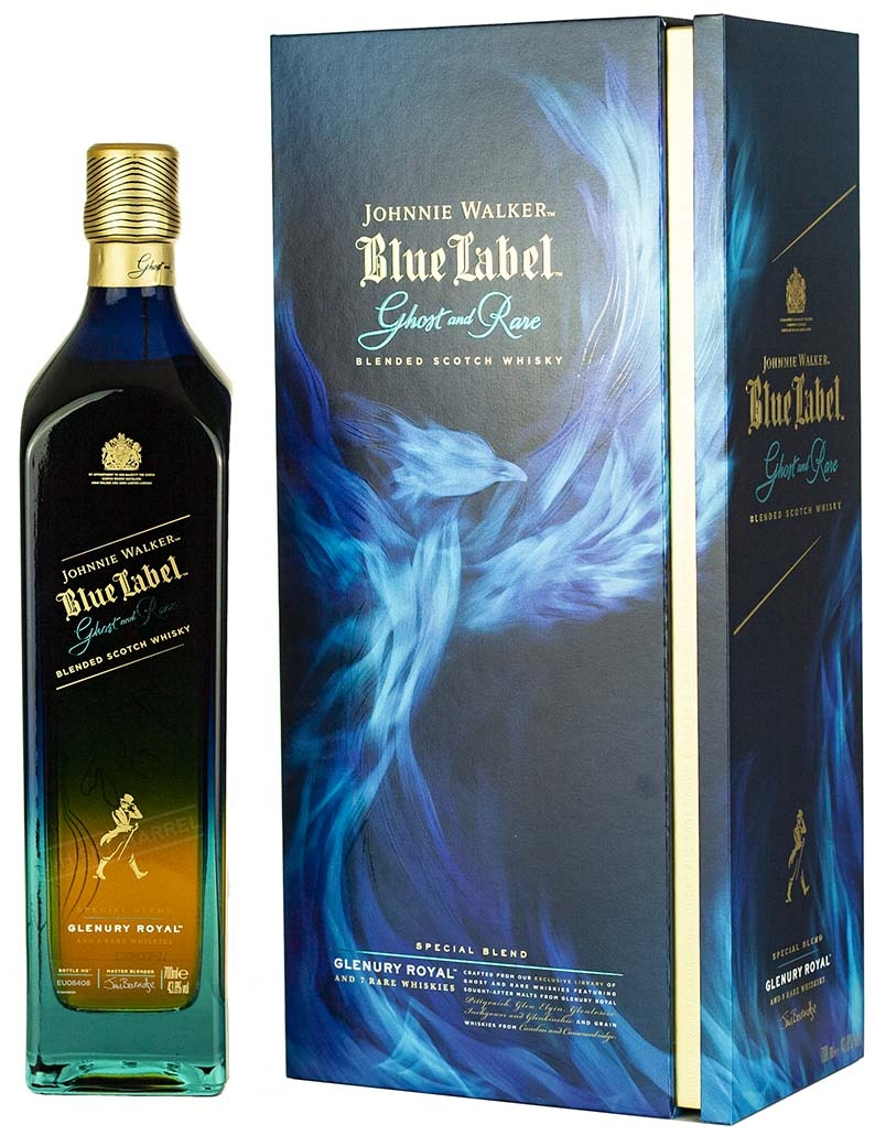 Blended Scotch Johnnie Walker Blue Label Ghost & Rare Glenury Royal