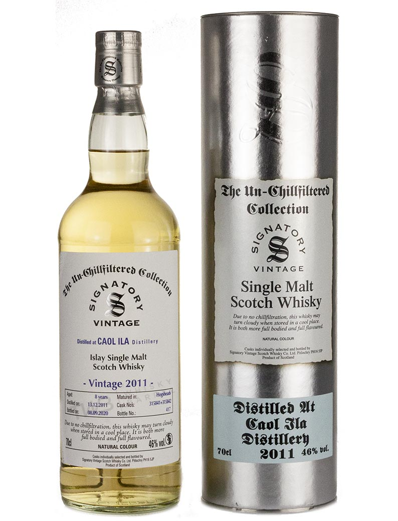 Caol Ila 8 Year Old 2011 Signatory Un Chillfiltered