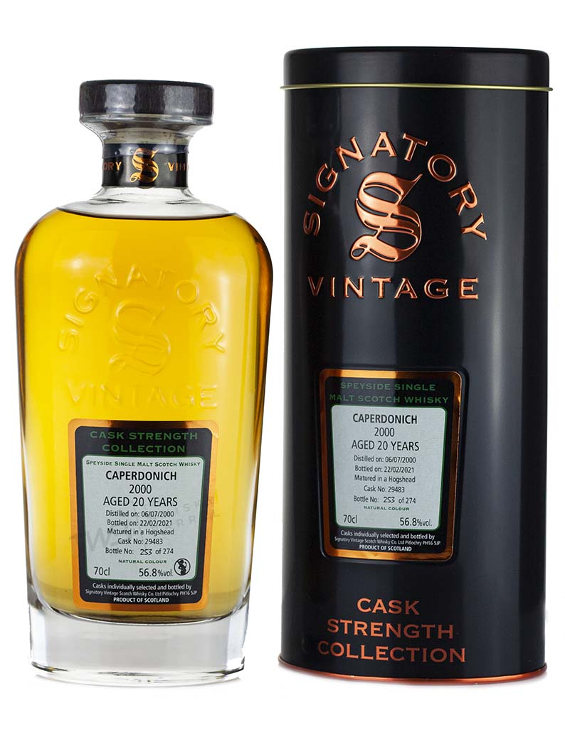 Caperdonich 20 Year Old 2000 Signatory Cask Strength