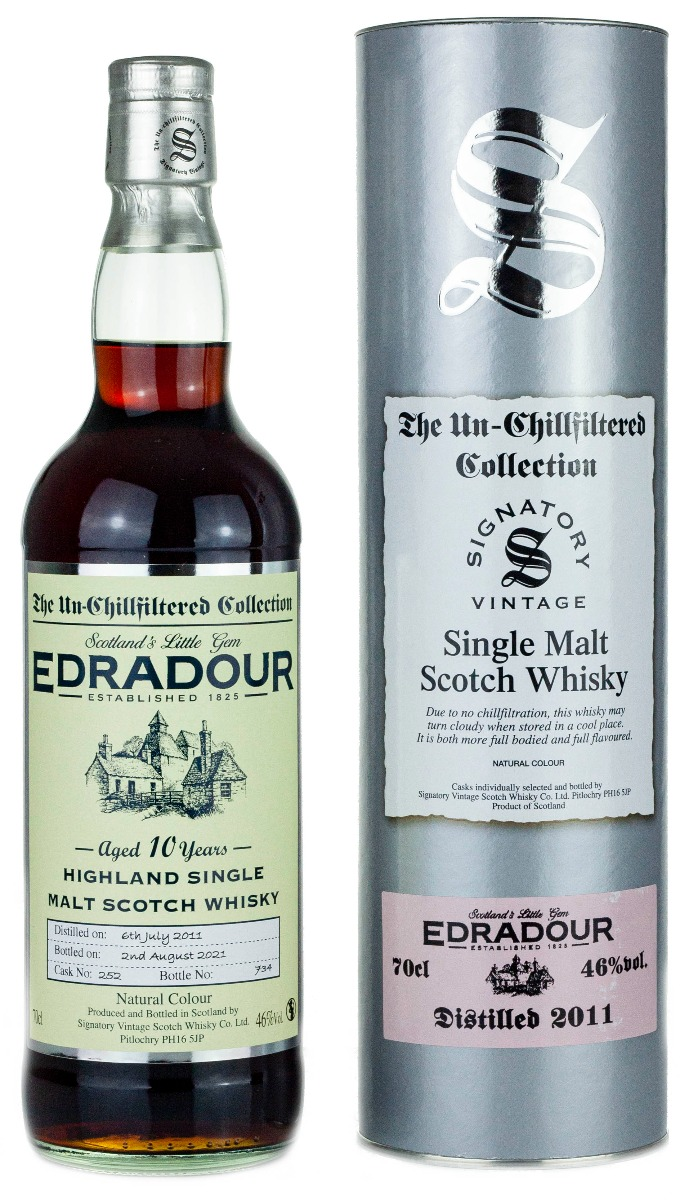 Edradour 10 Year Old 2011 Signatory Un Chillfiltered