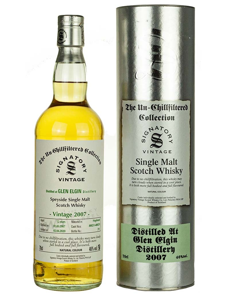 Glen Elgin 12 Year Old 2007 Signatory Un Chillfiltered
