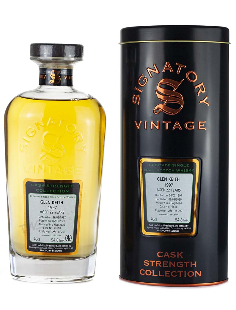 Glen Keith 22 Year Old 1997 Signatory Cask Strength