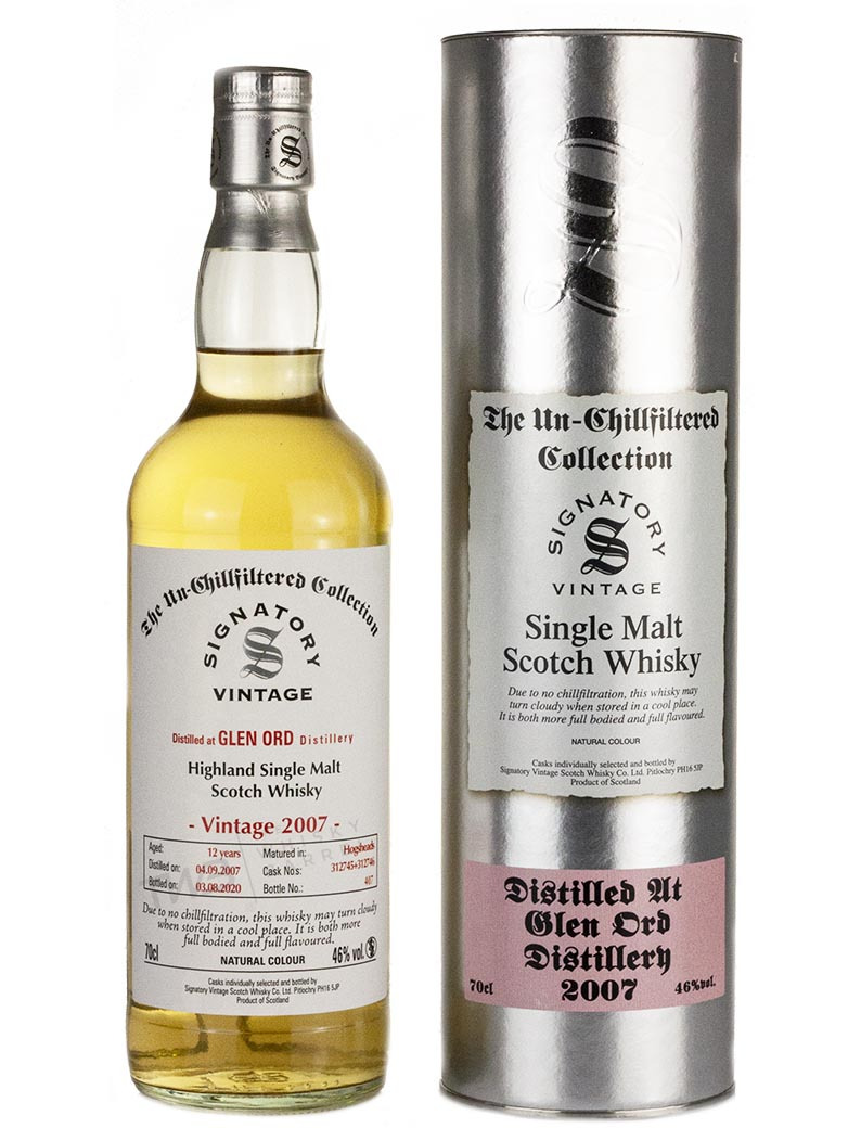 Glen Ord 12 Year Old 2007 Signatory Un Chillfiltered