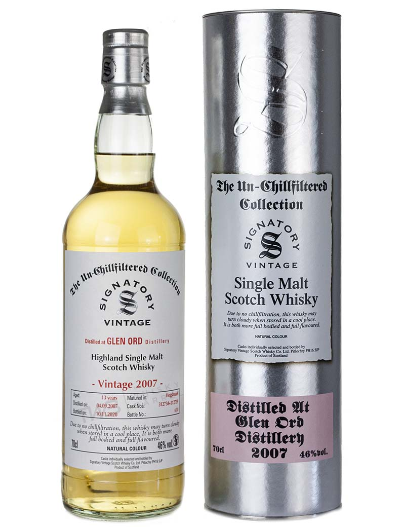 Glen Ord 13 Year Old 2007 Signatory Un Chillfiltered