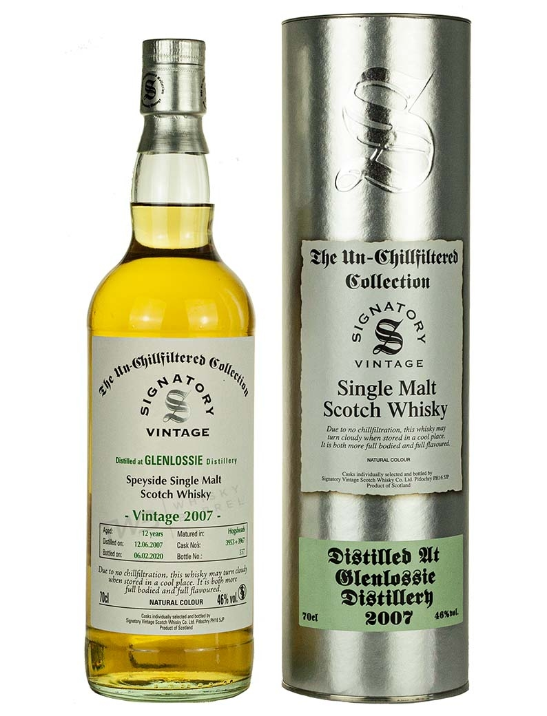 Glenlossie 12 Year Old 2007 Signatory Un Chillfiltered