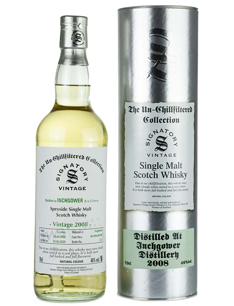 Inchgower 12 Year Old 2008 Signatory Un Chillfiltered