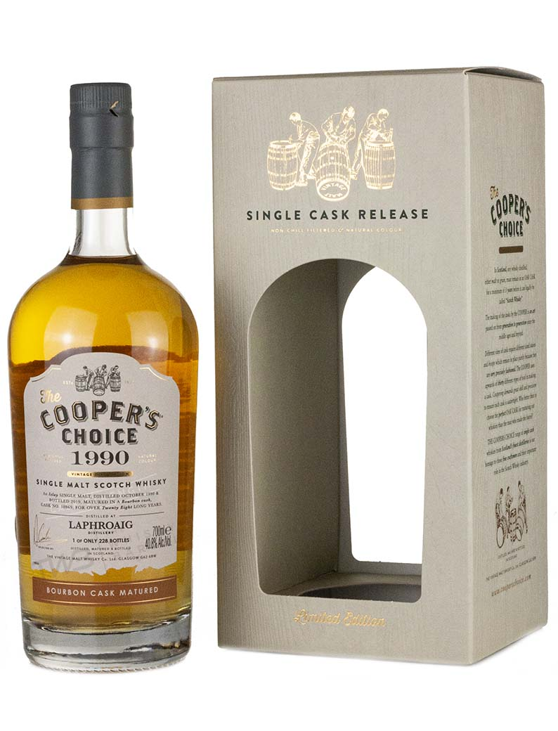 Laphroaig 28 Year Old 1990 Coopers Choice