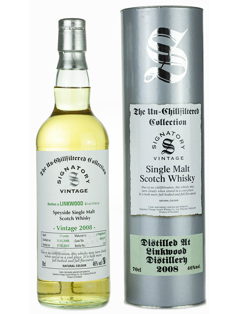 Linkwood 13 Year Old 2008 Signatory Un Chillfiltered