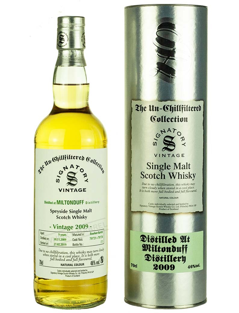 Miltonduff 9 Year Old 2009 Signatory Un Chillfiltered