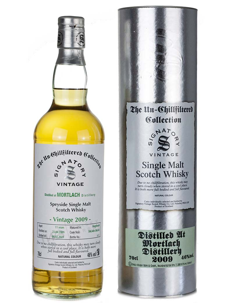 Mortlach 11 Year Old 2009 Signatory Un Chillfiltered