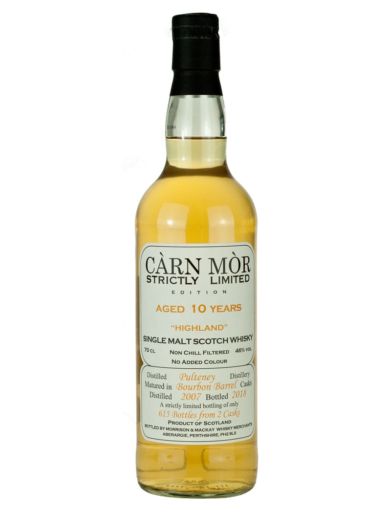 Old Pulteney 10 Year Old 2007 Carn Mor Strictly
