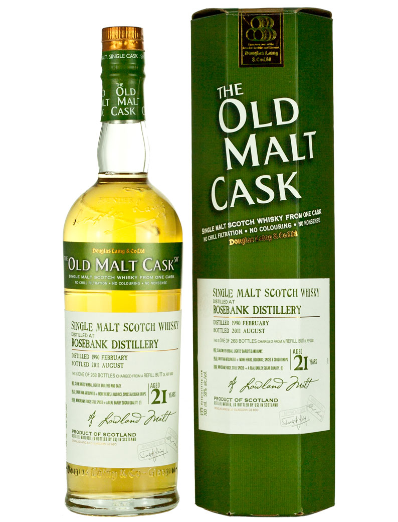 Rosebank 21 Year Old 1990 Old Malt Cask