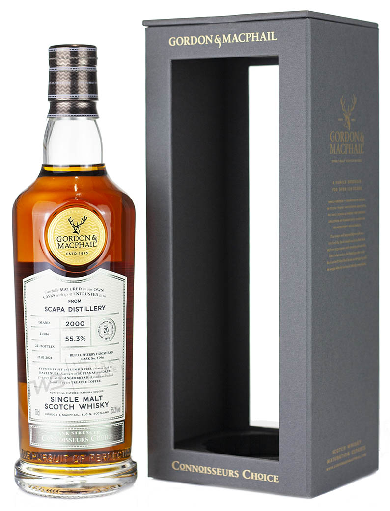 Alcoholic Drinks Scapa 20 Year Old 2000 Connoisseurs Choice