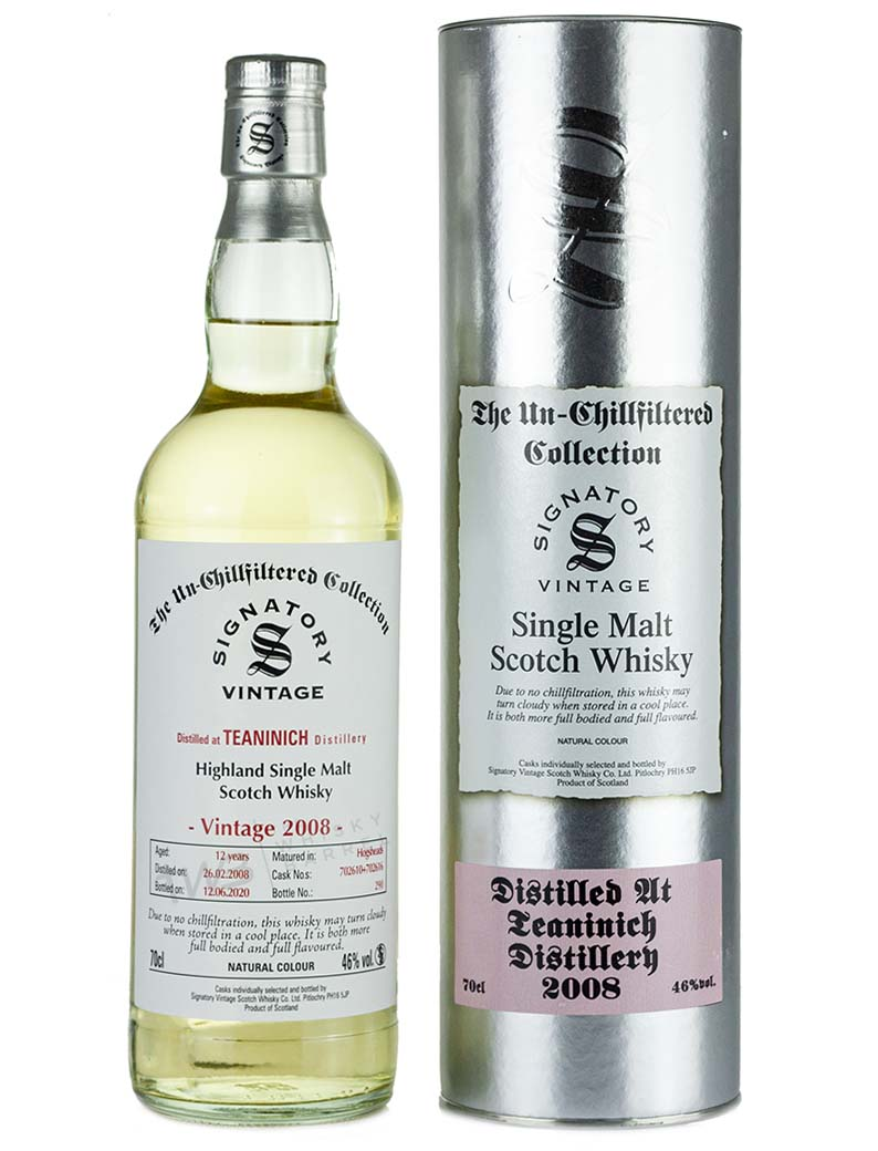 Teaninich 12 Year Old 2008 Signatory Un Chillfiltered